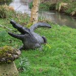 Yesterday we encountered a crocodile and the river Coln.