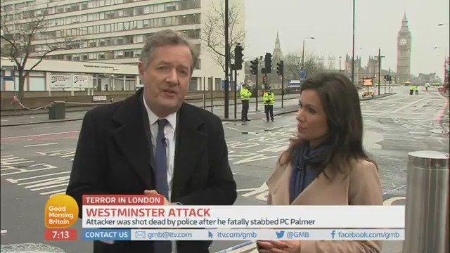 'They'll never win.'   Bravo, @PiersMorgan, bravo. #WestminsterAttack...