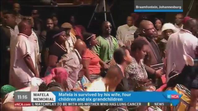 [WATCH] #JoeMafelaMemorial: Mafela's family arrive at his memorial ser...