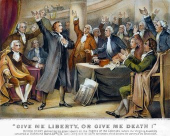 OTD 1775—  Patrick Henry thundered, 'Give me liberty, or give me death...