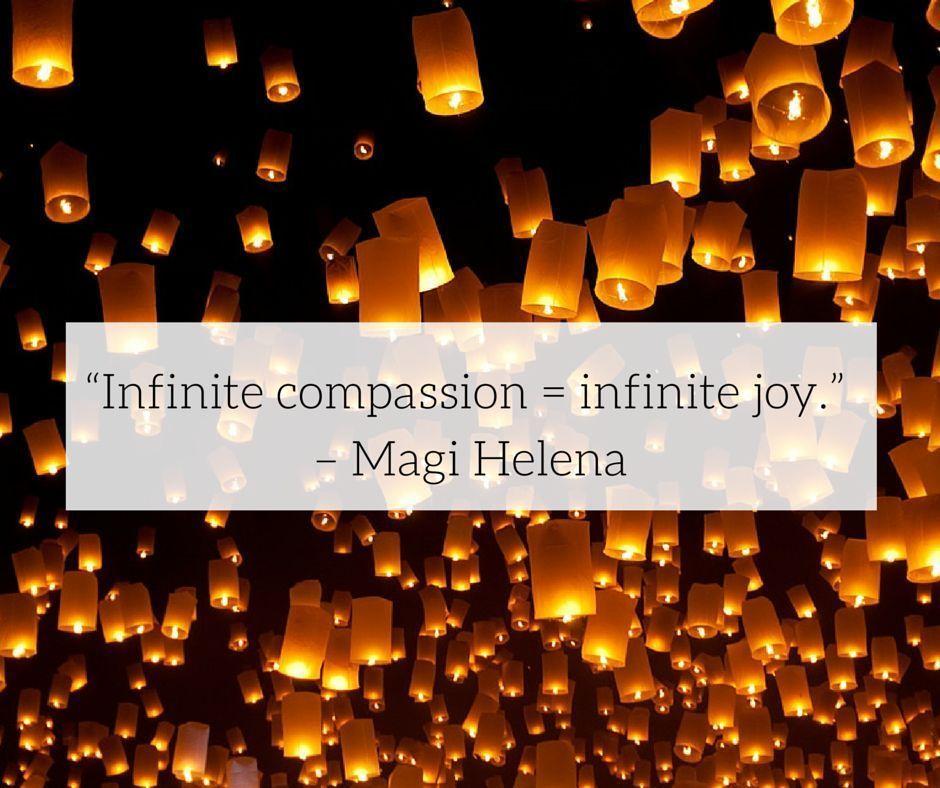 Infinite compassion = Infinite joy. #WednesdayWisdom #Joy<br>http://pic.twitter.com/PBEPeEjL0h