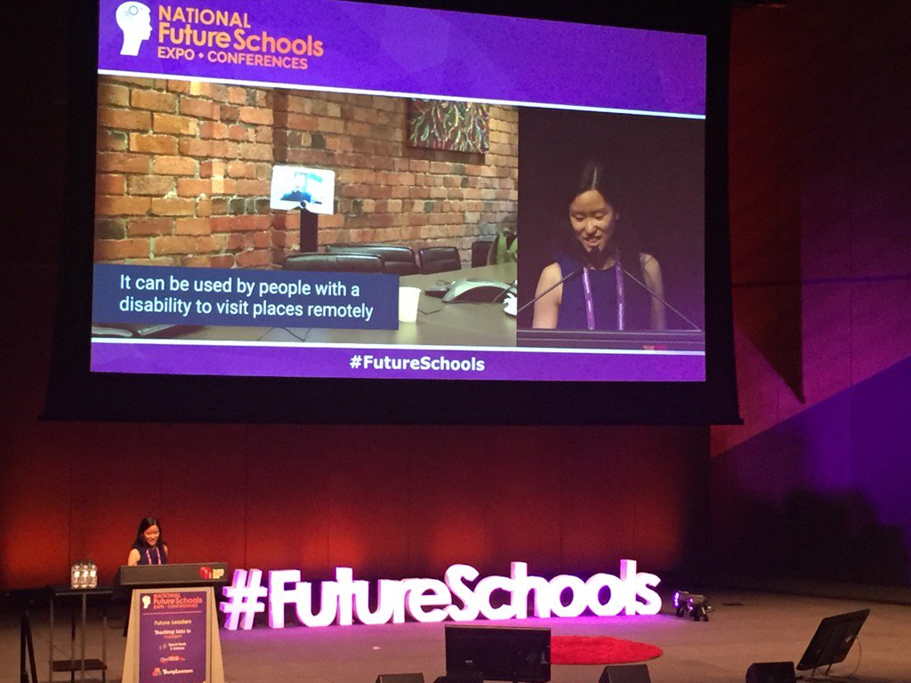 The amazing Marita Cheng, Founder/CEO, 2Mar Robotics @EduTECH_AU #FutureSchools showing why Tech Schools matter. Wow https://t.co/eyTHTMdhRX