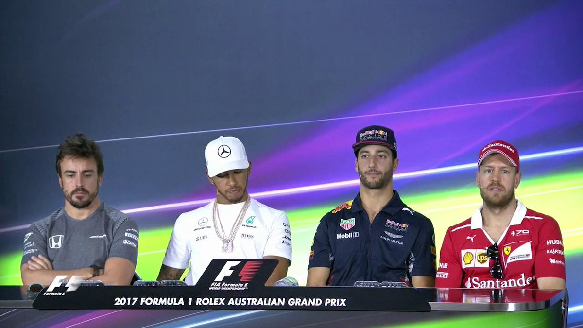 '@MercedesAMGF1 are favourites'  'No, @ScuderiaFerrari are'  #AusGP #F...