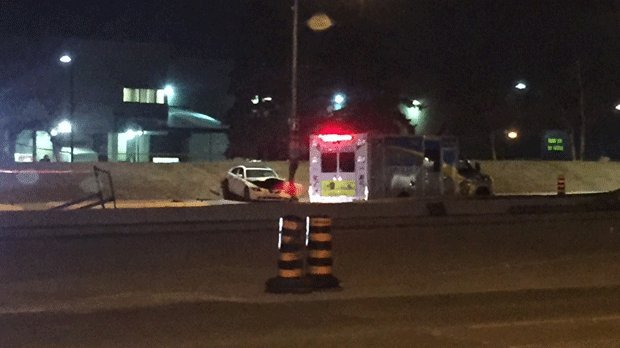 Man rushed to hospital with multiple gunshot wounds after crashing veh...