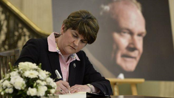 Arlene Foster confirms she will attend the funeral of Sinn Féin's Mart...