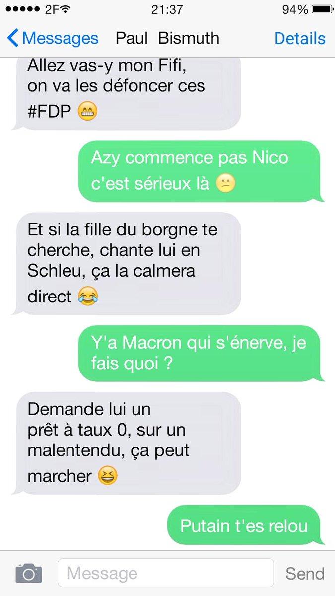 BREAKING : Les SMS de #Fillon au soir du #GrandDébat fuitent déjà<br>http://pic.twitter.com/wCogQ6Qgu9