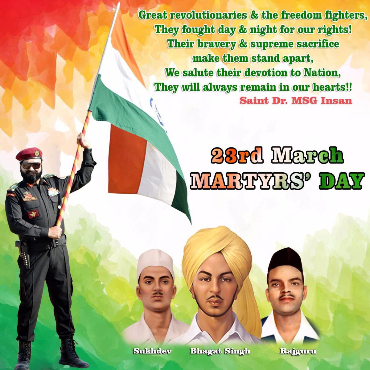 #SalutesToFreedomFighters the brave sons of mother India Bhagat Singh,...