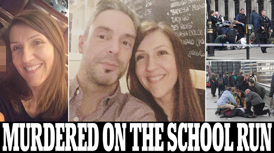 Mother of two is named as one of the four dead in London terror attack...