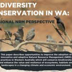 A great snapshot: Biodiversity conservation in Western Australia - An #NRM perspective. From @NRM_WA https://t.co/1DU17zLwzK