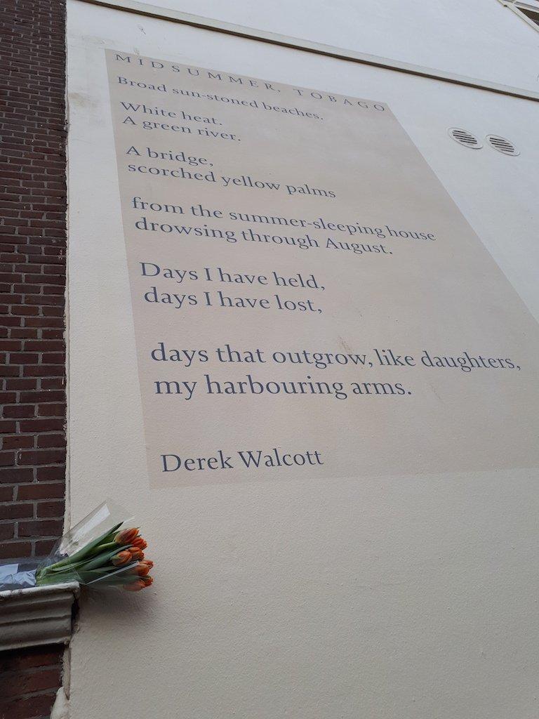 Walter Van Teeffelen On Twitter In Memoriam Derek Walcott