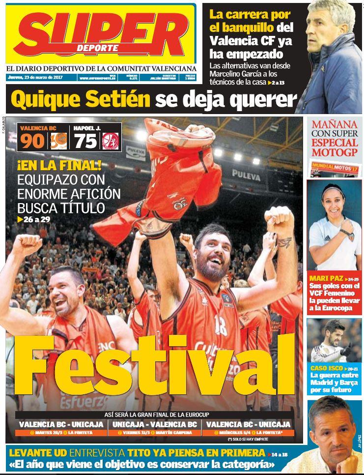 Buenos días!! Aquí os dejamos la portada de hoy! FESTIVAL en La Fontet...