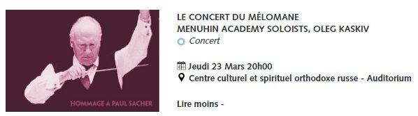 [Ce soir] 20h @DuViolon Le #concert du #mélomane  Menuhin Academy Soloists #orchestre / Oleg Kaskiv #violon  https://www. leprintempsduviolon.com/programme  &nbsp;  <br>http://pic.twitter.com/oLelquQNN9