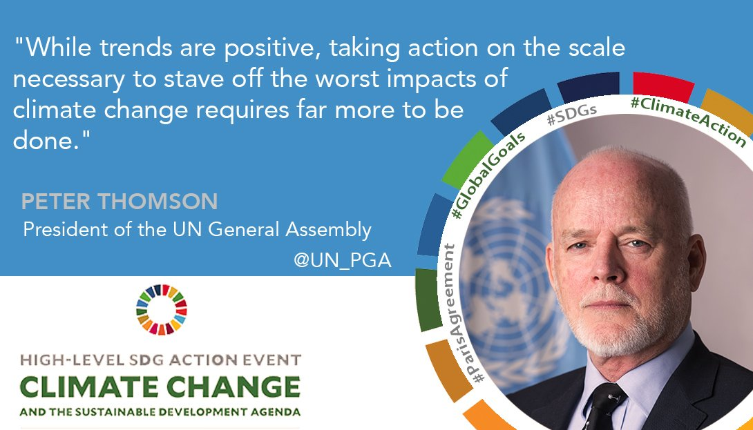 We need to scale up #climateaction to stave off the worst impacts of #climatechange - at opening of #SDGaction event #ParisAgreement #SDGs<br>http://pic.twitter.com/UyRvNdA2Ye