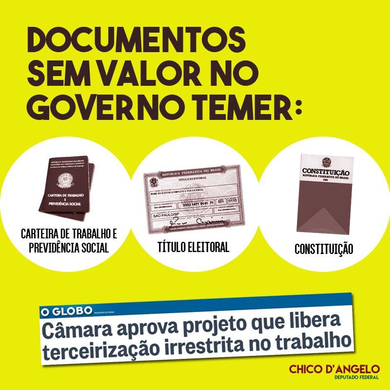 Três documentos que não valem nada pra Temer e sua turma de golpistas...