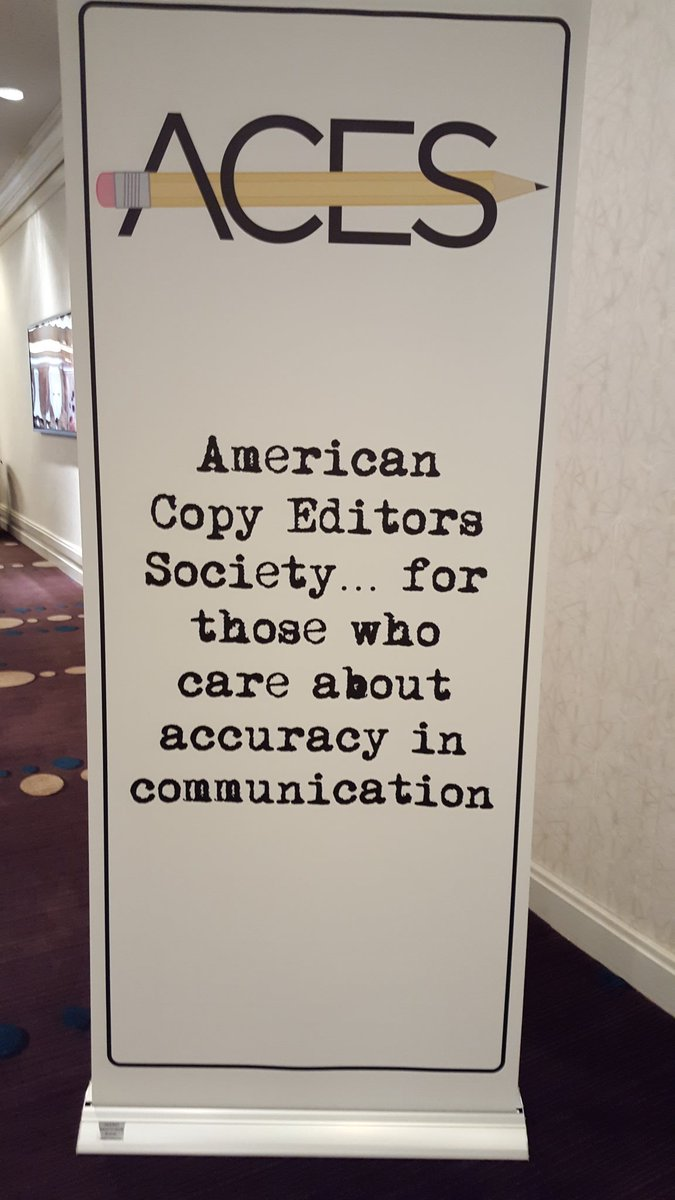 I'm at the American Copy Editors Society conference in St. Petersburg...