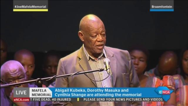 [WATCH] Wally Serote addresses the audience at the #JoeMafelaMemorial...
