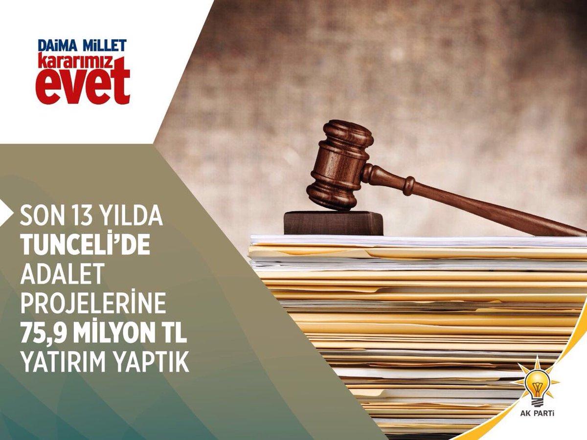 Adalet Projelerinde Yatırım yaptık #TunceliEVETdiyor https://t.co/Ckey...