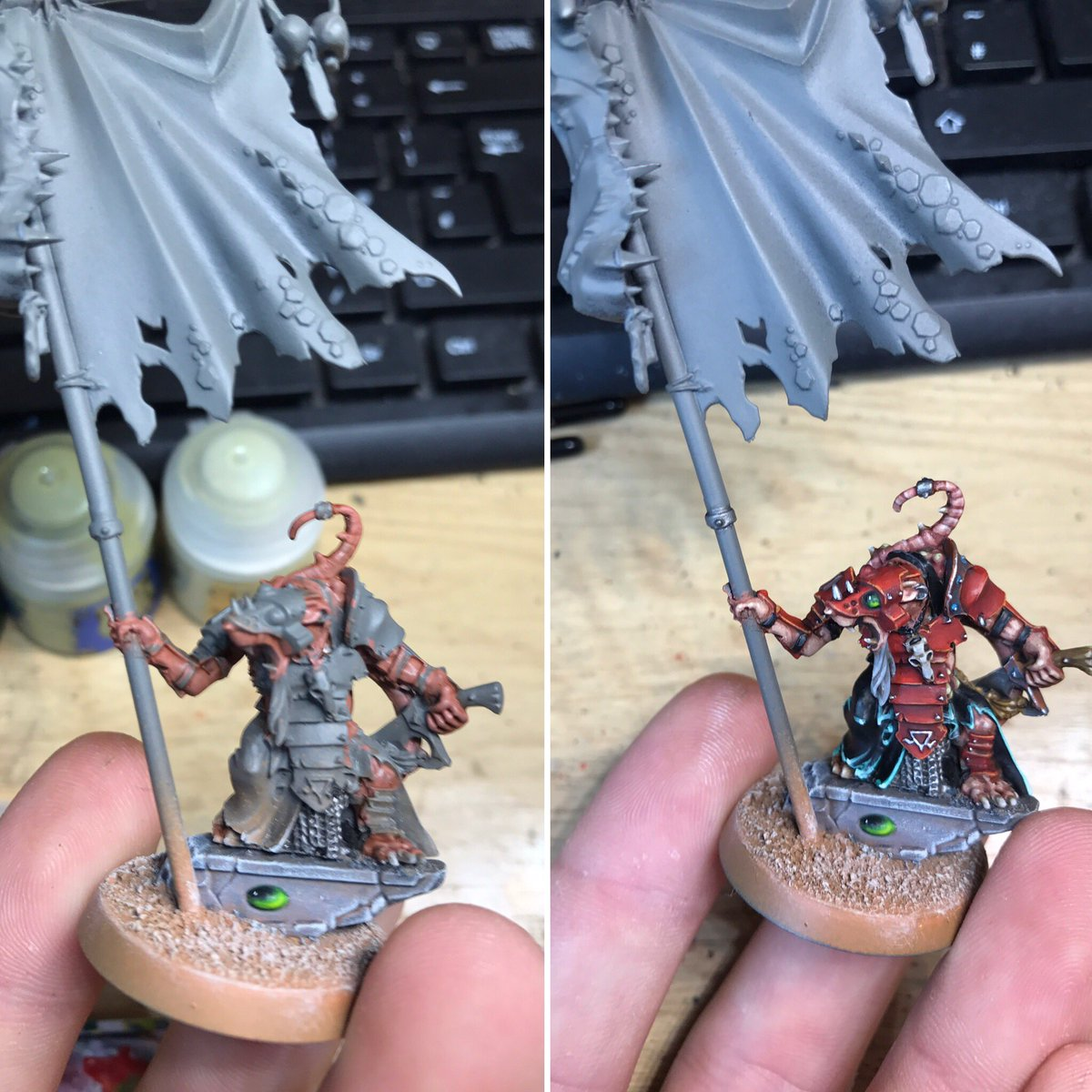 Painting my BSB. Done this much in just over 2.5 hours. Time to work o...