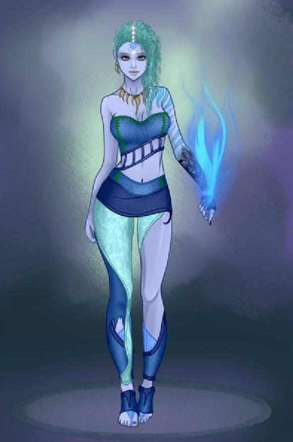 L Spooner On Twitter Designing A New Merfolk Druid Character In