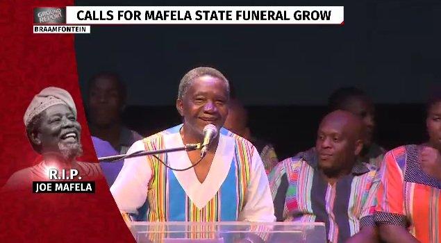 Video: Brother pays tribute to legend Joe Mafela  | https://t.co/CXEAv...
