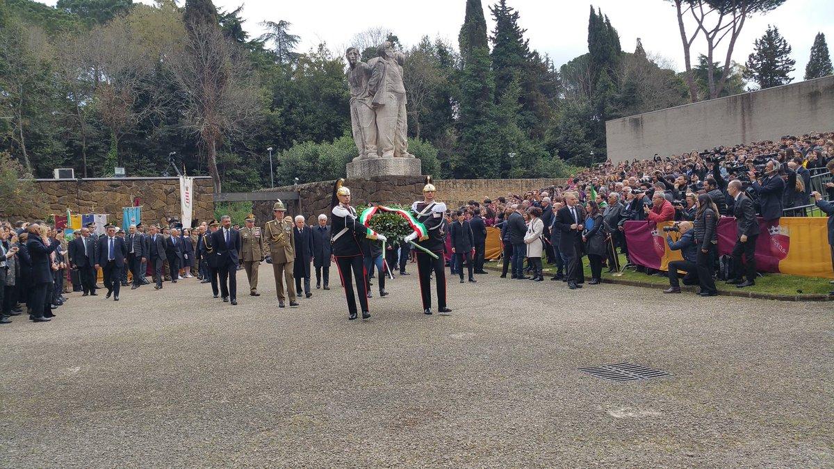 Il Presidente #Mattarella alla cerimonia commemorativa del 73° anniver...