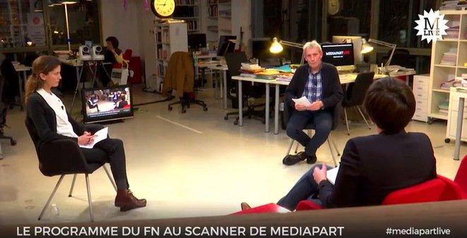[REPLAY] – Le programme Le Pen au scanner de la rédaction de @mediapart  http:// mdpt.fr/2namNu4  &nbsp;   #MediapartLive <br>http://pic.twitter.com/3EV08Y9mME