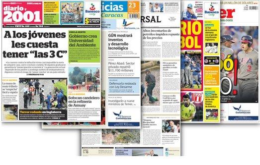 #23Mar Estas son las portadas de los periódicos nacionales y regionale...