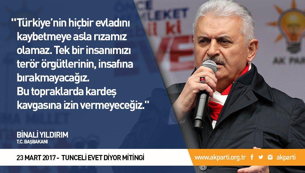 'Türkiye'nin hiçbir evladını kaybetmeye asla rızamız olamaz.' #Tunceli...
