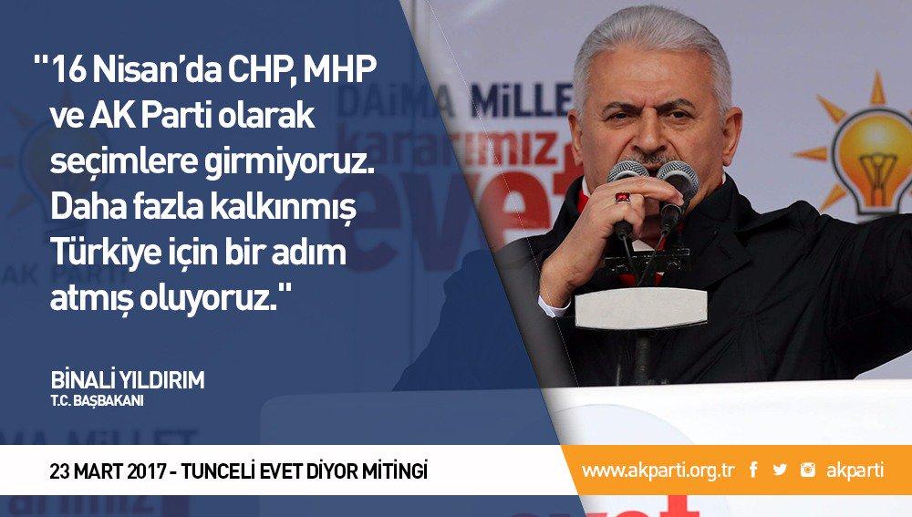 'Daha fazla kalkınmış Türkiye için bir adım atmış oluyoruz.' #TunceliE...