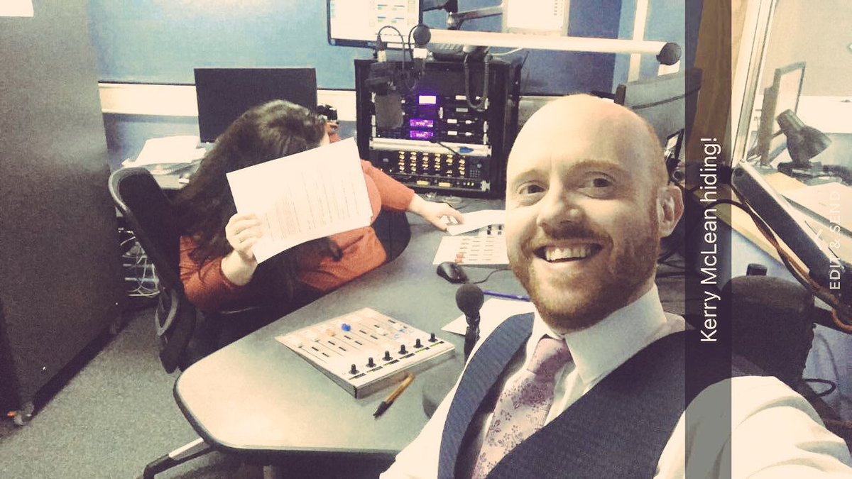 A big happy birthday to @bbcradioulster's @kerry_mclean. Tortured with...
