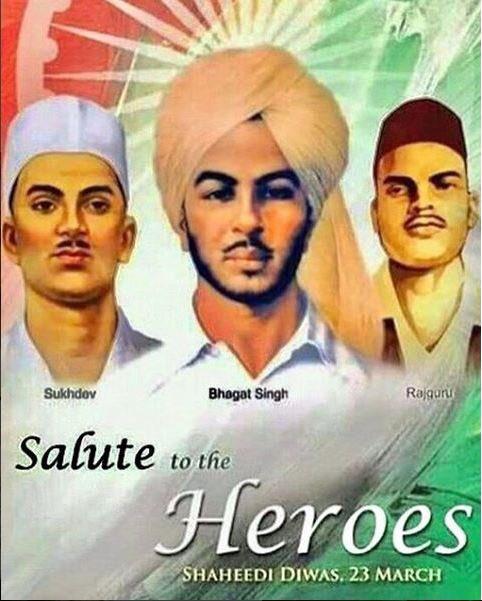 The greatest HEROES I look up to... #BhagatSingh #Rajguru #Sukhdev #JaiHind #AmarSaheed #heroes #pride #india #indians https://t.co/wDFzpGmGKe
