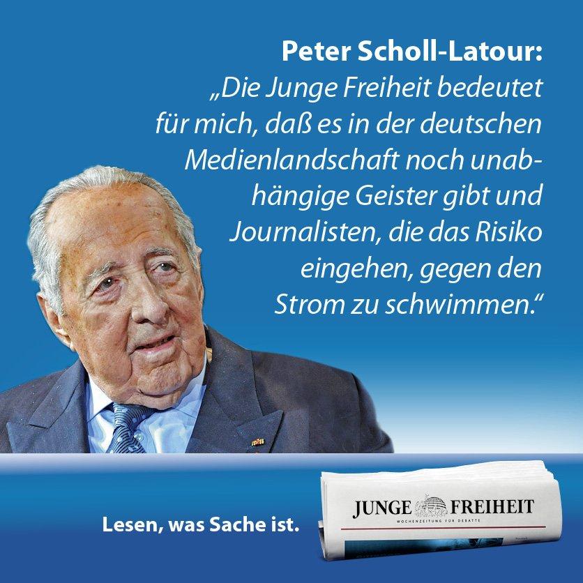 Peter Scholl-Latour - einer der großen deutschen Journalisten ... und...