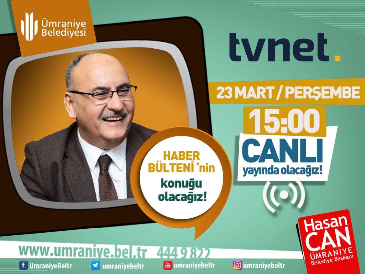 Birazdan @tvnet Haber Bülteni'nin Canlı yayın konuğu Olacağız. https:/...