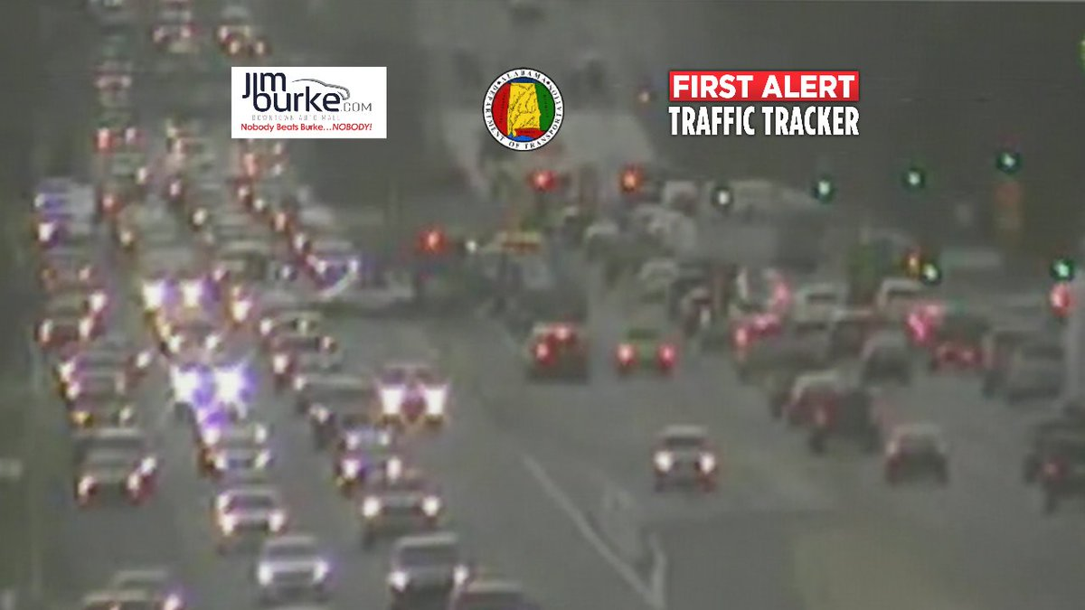 7:02am: HWY 280 inbound left lane blocked before I-459 due to crash an...