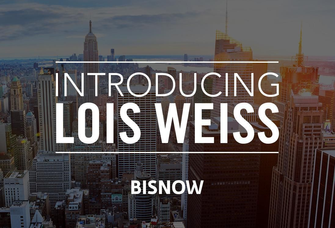 .@LoisWeiss joins Bisnow as featured columnist https://t.co/M9b64a5lrv...