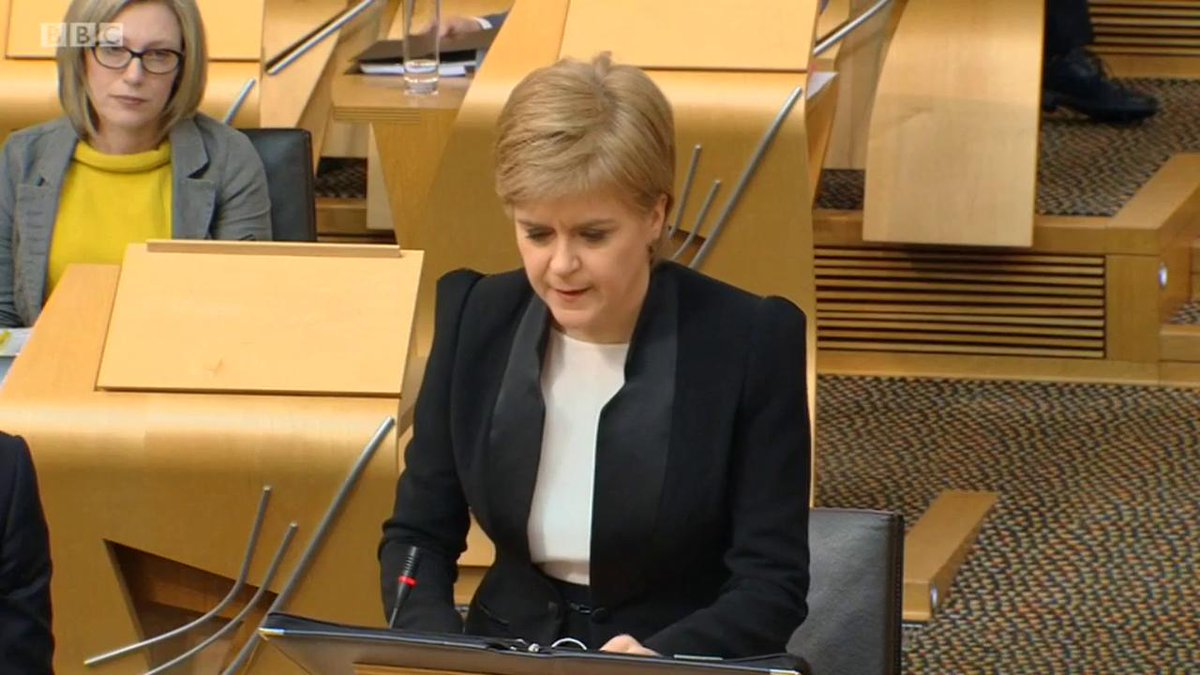 .@NicolaSturgeon expresses Scotland's 'shock at sadness' at Westminste...