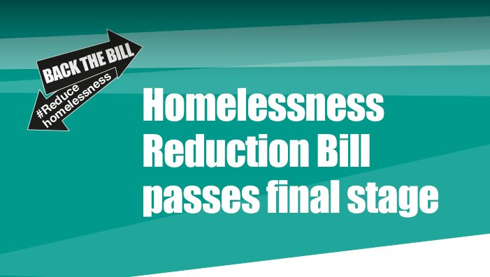 The #HomelessnessReductionBill has passed! #NoOneTurnedAway #ReduceHom...
