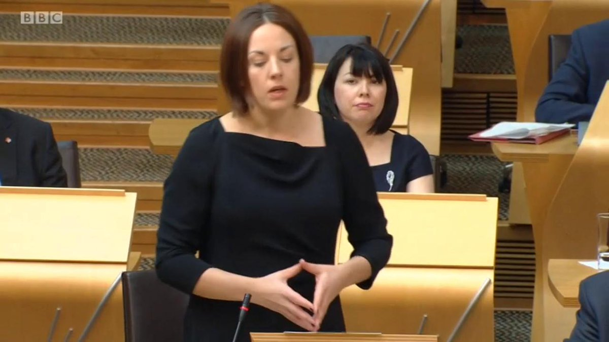 Tribute to Westminster attack PC Keith Palmer from @kezdugdale at #FMQ...