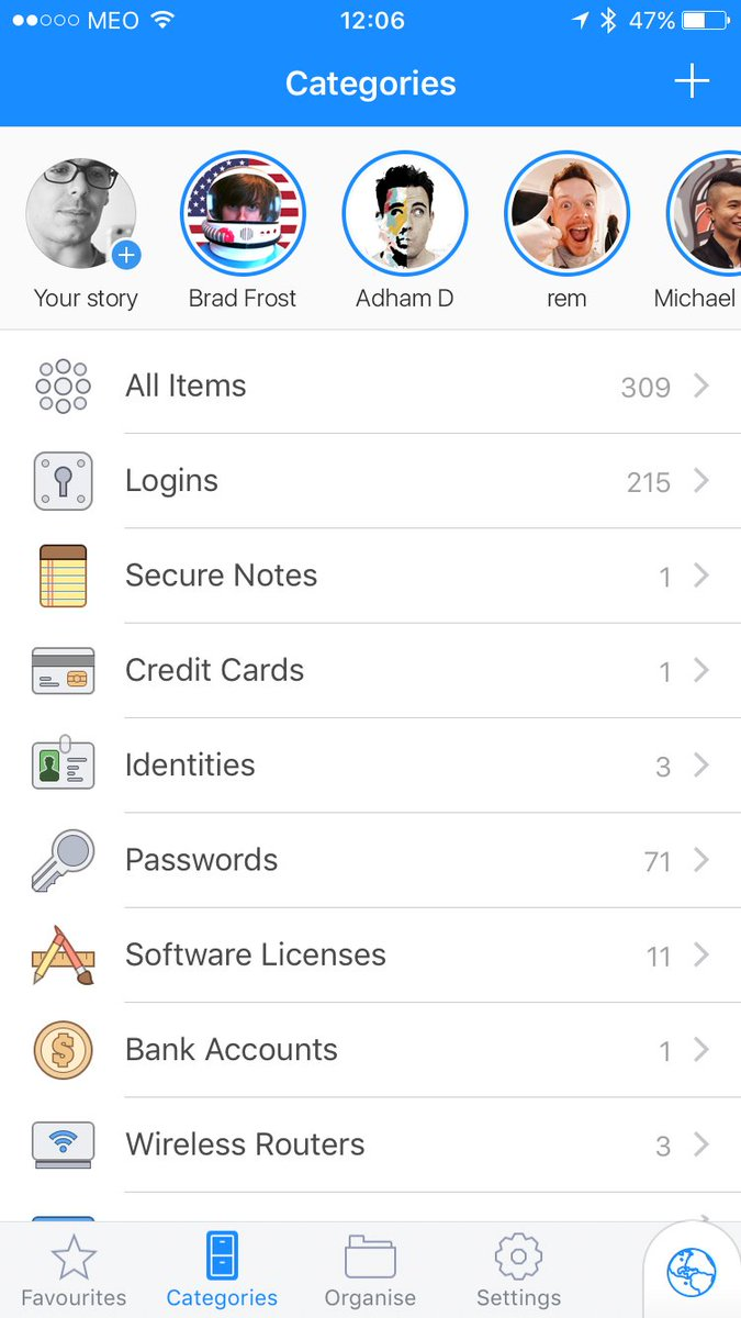 Introducing @1Password Stories! Show to the others your passwords!