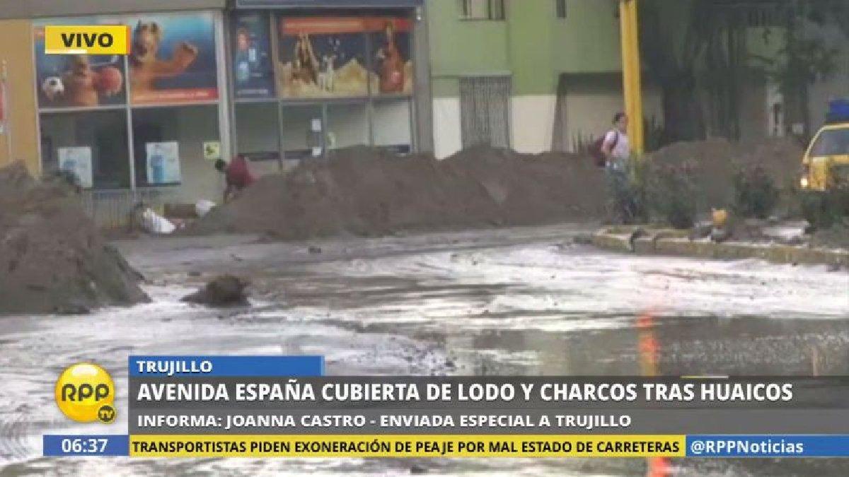 Video | Así quedó Trujillo tras la caída del séptimo huaico ► https://t.co/KYZdtoGNCE https://t.co/M1AhRnsSsv
