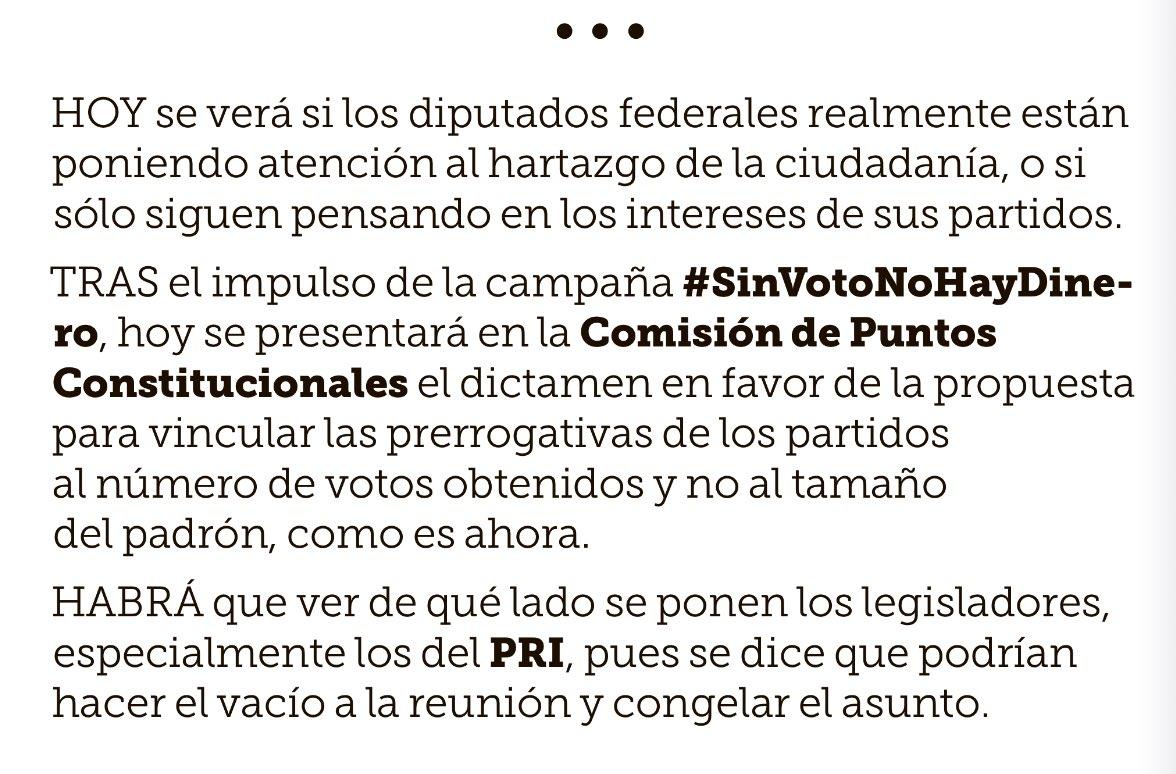 HOY #SinVotoNoHayDinero https://t.co/qxjMB6mOqC
