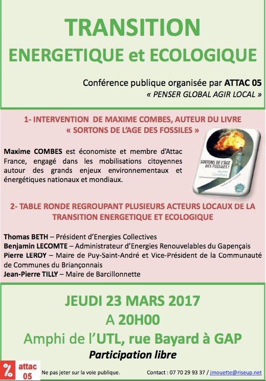 En route pour #Gap ! Débat ce soir autour de la #transitionenergetique et du livre #SortonsDeLageDesFossiles @EditionsduSeuil<br>http://pic.twitter.com/GM6dL15FWw