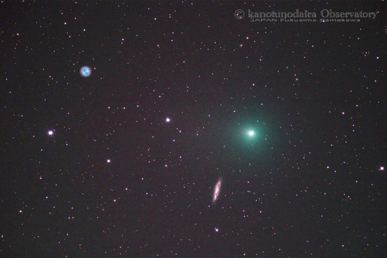 ふくろう星雲(M97)-タットル・ジャコビニ・クレサーク彗星(41P)-M108銀河の会合