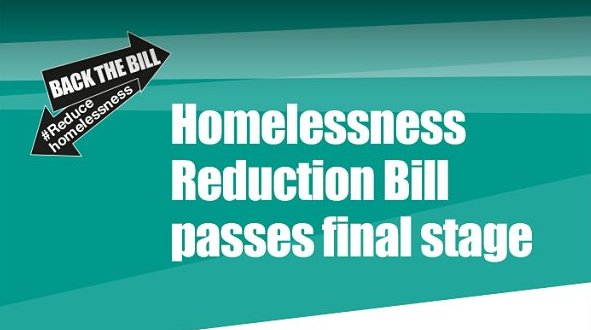 BREAKING NEWS: The #HomelessnessReductionBill has been passed by the H...