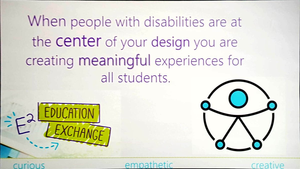 Well said @marthajez! Universal design makes education accessible to all!  #E2 #makewhatsnext #MIEExpert #MicrosoftEDU<br>http://pic.twitter.com/Fk7af6kVtt