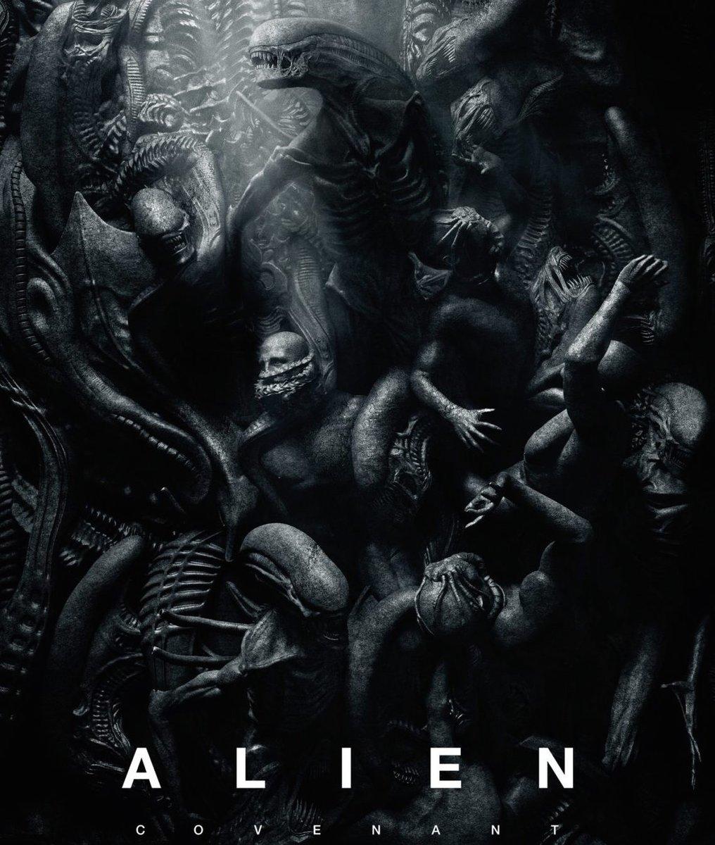 ¿Querías xenomorfos? El nuevo póster de #AlienCovenant te da varias ta...