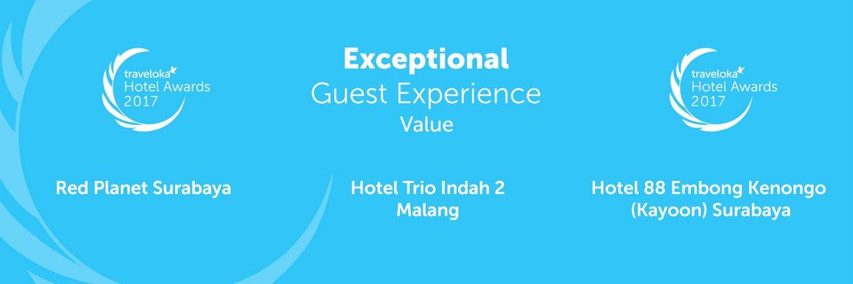 Traveloka Indonesia On Twitter Pemenang Exceptional Guest Experience Value Redplanetid Hotel Trio Indah 2 Malang Dan 88embongkenongo Travelokahotelawards Https T Co Fcjwlaaeem