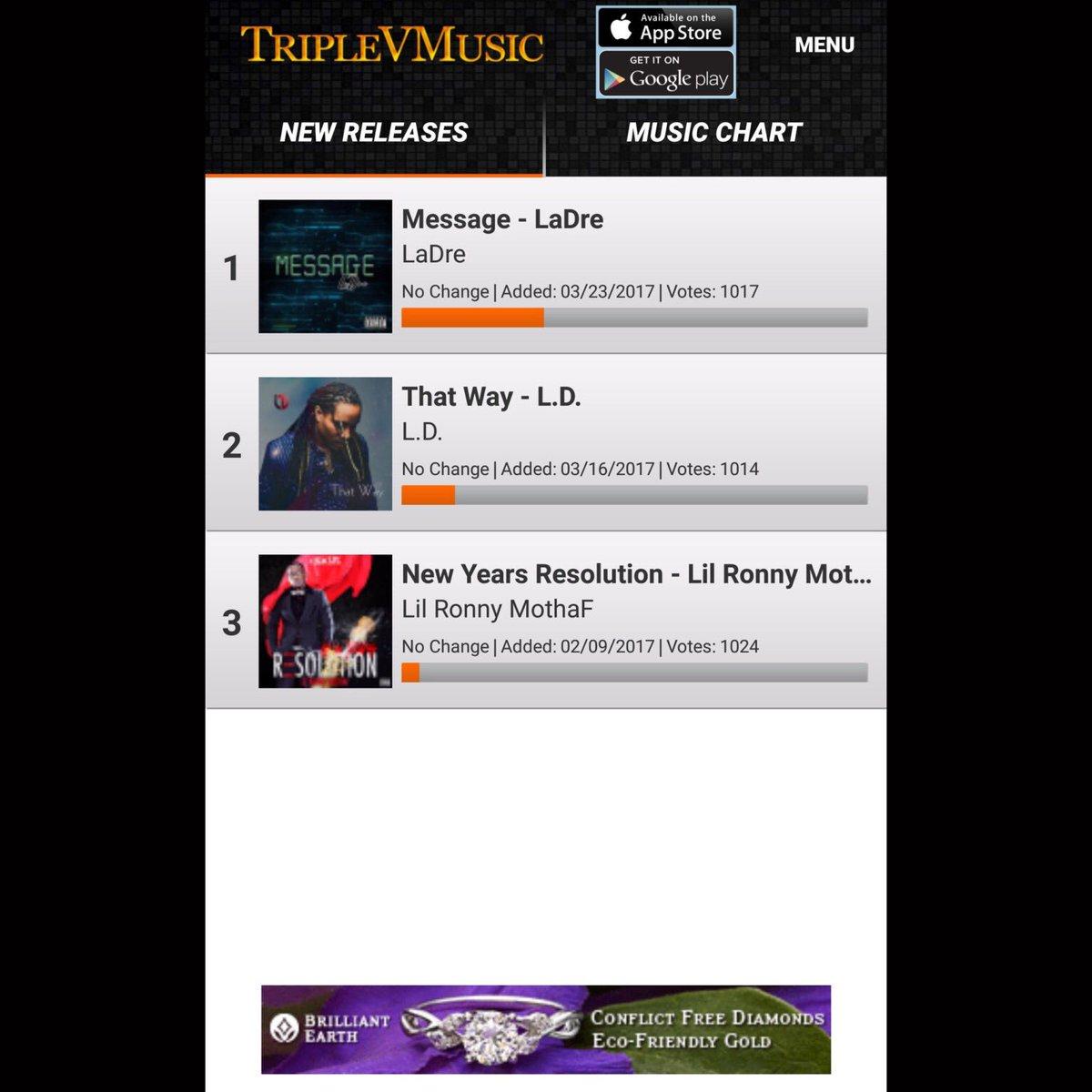 RT &amp; LIKE Voting Starts Today @TripleVMusic App for #LaDre #LilRonny &amp; #LDMusic!!! #Music #MusicNews @BrilliantEarth ad<br>http://pic.twitter.com/1mkQRPZknF