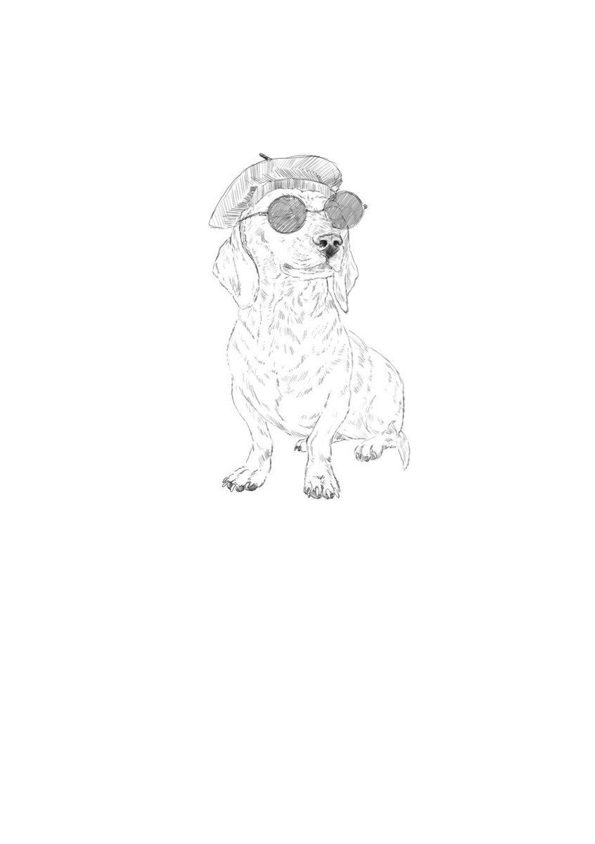 &#39;Avant Garde&#39; Dog #illustration #sketch #NationalPuppyDay #dogsoftwitter #sausagedog<br>http://pic.twitter.com/R6MGSQHpSi