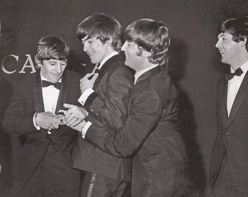 #OTD 23MAR1964 The Beatles wrestle over their Carl Alan Awards, receiv...